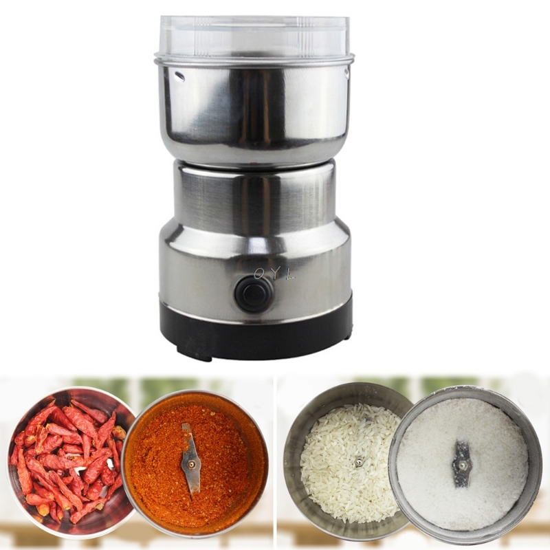 Coffee Grinder Stainless Electric Herbs/Spices/Nuts/Grains/Coffee Bean Grinding Kitchen Appliance Coffee Grinder EU Plug