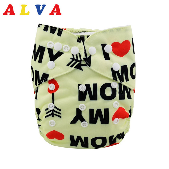 1pc Alva Baby Suede Cloth Inner Diaper For With Microfiber Insert H038