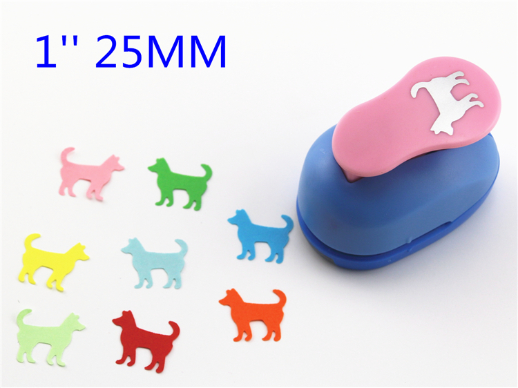 25mm Dog Paper Cutter Craft Perfurador Cutter Scrapbooking Paper Punch For Kids Furador Diy Puncher R325