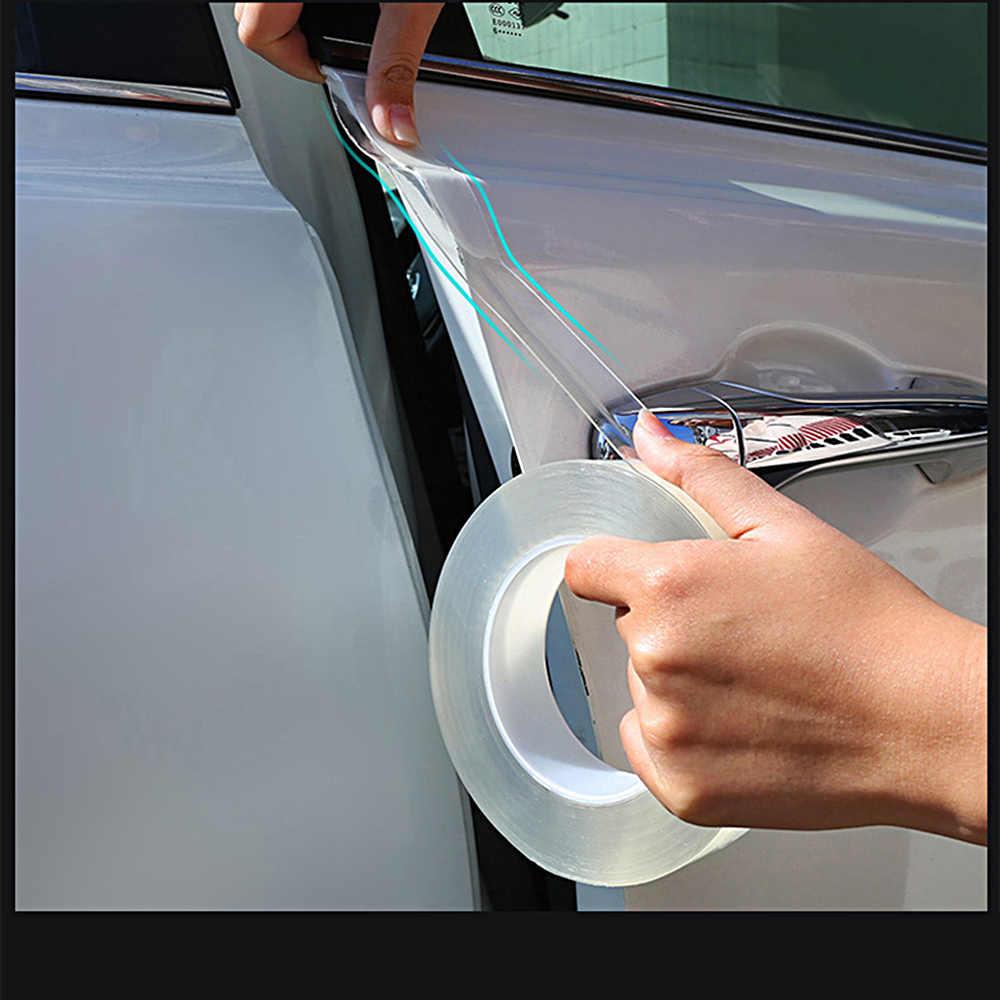 DIY ukryte nie ma śladów przezroczysta taśma klejąca odporna na zarysowania kolizji naklejka na Audi A1 A3 Sline A4 A6 A8 Q3 Q5 Q7 akcesoria