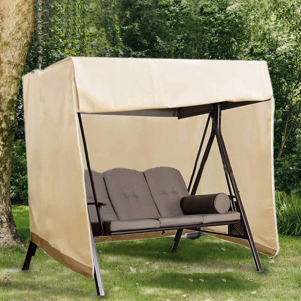 Outdoor Swing Cover Seater Hammock Patio Swing Chair Cover Durable and Water Resistant All Weather Protection