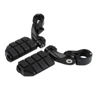 Motorcycle 32mm Highway Foot Pegs Pedals For Harley Touring Road Electra Street Glide King