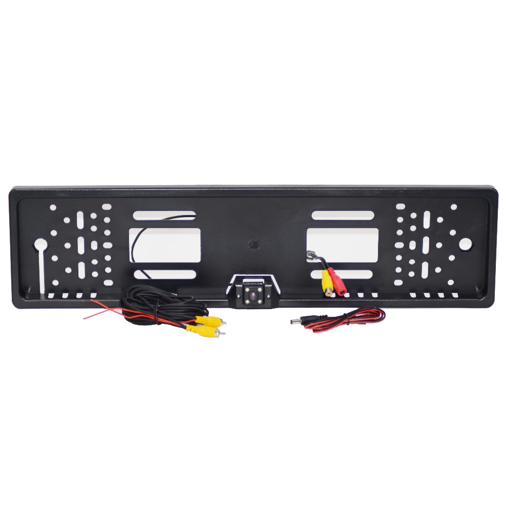 2018 New Arrival 170 European Car License Plate Frame Auto Reverse Rear View Backup Camera 4 LED Universal CCD  Night Vision