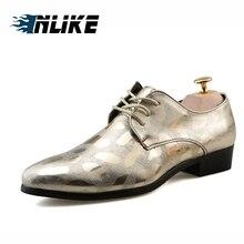 Inlike Nova Primavera Homens Moda Festa de Verão Sapatos Casuais Respirável sapatos de Couro Macio de Alta Qualidade de Prata de Ouro Dos Homens Flats