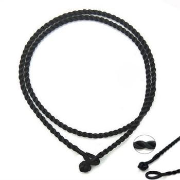20 sztuk 2mm czarny 18 #8222 jedwabny przewód Twist wątek naszyjnik koraliki z europejskimi amuletami koraliki wisiorek biżuteria akcesoria tanie i dobre opinie SNASAN CN (pochodzenie) Sznury 0 2cm 18inch Ocena biżuteria NYLON