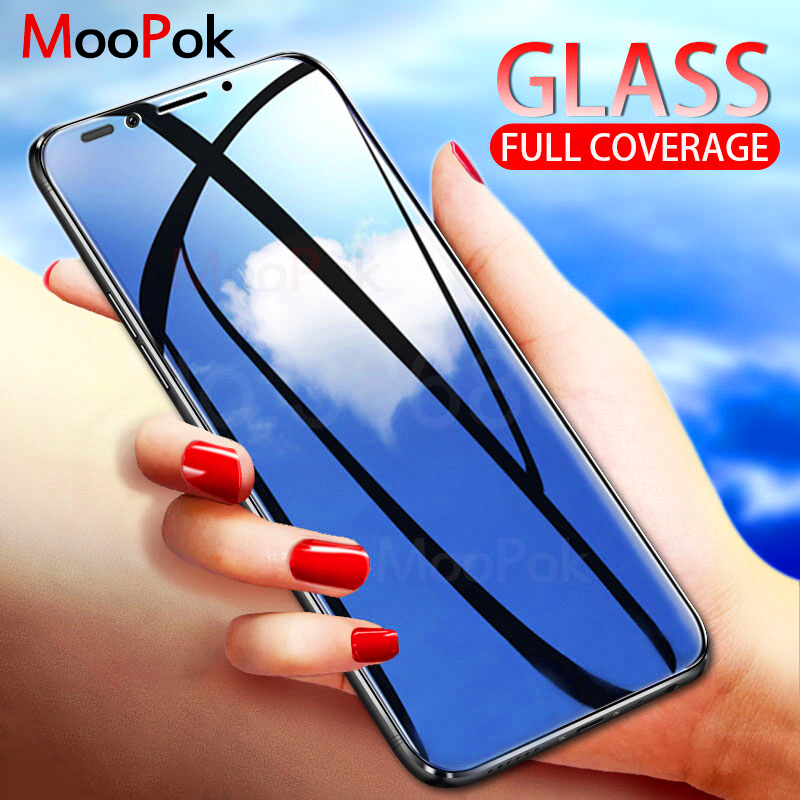 MooPok מסך מזג זכוכית עבור Huawei P חכם כבוד 8X מקס 8C 6C 7C פרו מגן זכוכית לכבוד 7X 6X 7A פרו מגן סרט