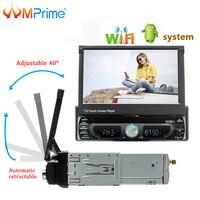AMPrime автомобильный Радио 1Din Android gps навигация аудио стерео 7 Wifi съемный мультимедийный плеер Поддержка Mirrorlink BT AUX радио