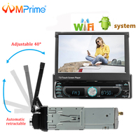 AMPrime 7 Universal Detachable Car Radio 1Din Android wifi Audio Stereo Multimedia Player Support Mirrorlink BT AM/FM GPS