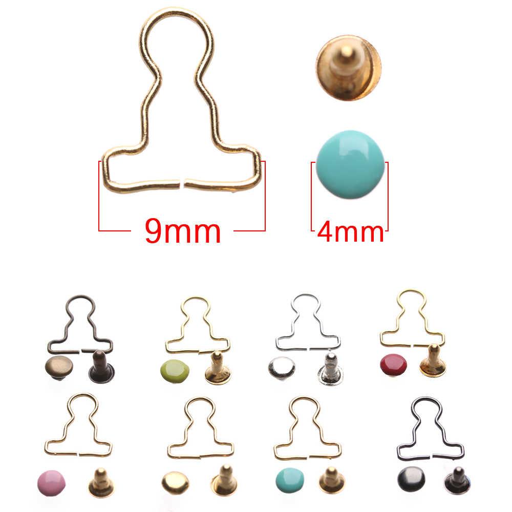 10Sets Mini Pop Riem Knoppen Poppenkleertjes Diy Metalen Gesp Fit Voor 1/6 Poppen Meisjes Pop Gespen Broek Zakken accessoires