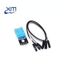 Freies Verschiffen DHT11 Temperatur und Relative Feuchtigkeit Sensor Modul Mit Kabel 50PCS H22