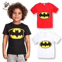 Batman Boys T-shirts Short Sleeve Kids Clothes Cotton Boys T Shirt Fashion Tops Kids Boys Clothing Cartoon Children's T-shirt