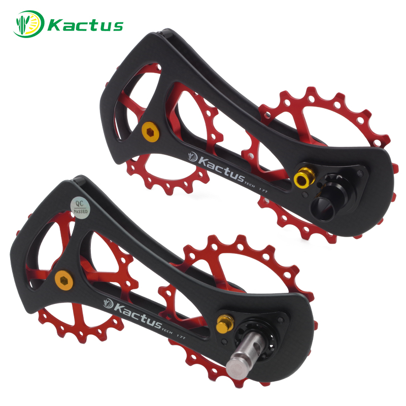 17T-17T Carbon Fiber Bicycle Rear Derailleur Jockey Pulleys Ceramic Bearing for Shimao DURA-ACE Ultegra 105 <font><b>TIAGRA</b></font> Derailleur image