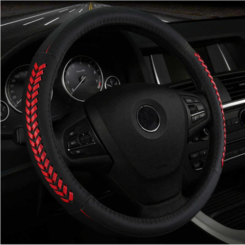 Genuine leather car steering wheel cover Interior accessories for toyota land 80 100 200 prado 120 150 land-cruiser-prado verso