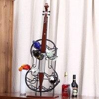 Europejski dostaw salon miękkie dekoracji bar restauracja hotel Wyposażenie Domu kreatywny skrzypce wine rack bar dekoracji