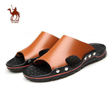 CAMEL JINGE Brand Men Outdoor Beach Slippers Sports Shoes Summer Breathable Leather Walking Klapki Basenowe