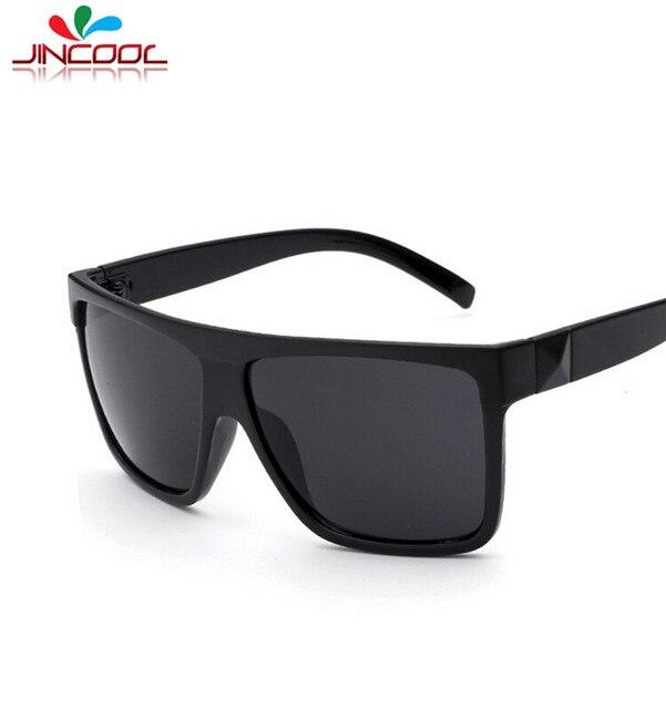 JinCool 2016 Big Square Frame Glasses Men Retro Women Sunglasses ...
