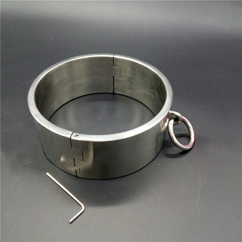 Top Stainless Steel 6cm High Heavy Bdsm Collar Slave Restraints Metal Neck Bondage Collar Fetish Wear Sex Toys For Adults Games
