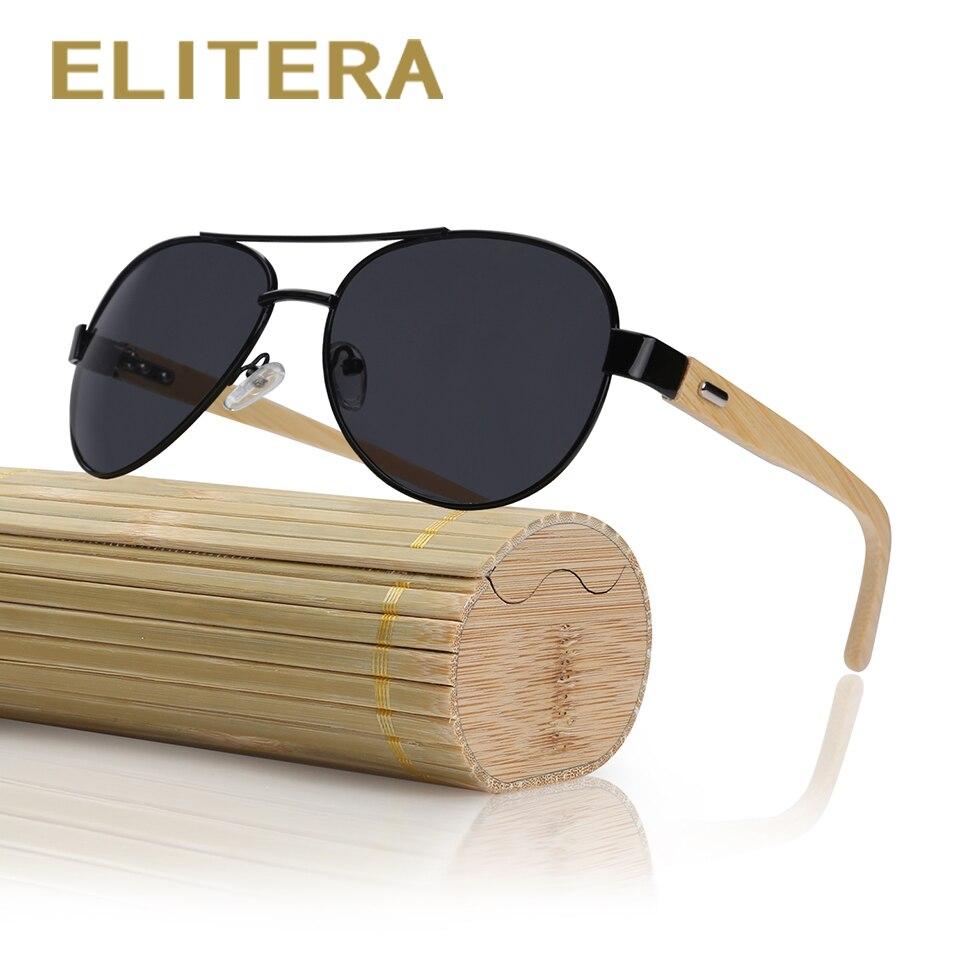 e493570caf8dd ELITERA Bambu Espelho Óculos De Sol Óculos de Sol dos homens Óculos de  Condução Ao Ar Livre Óculos de Proteção Óculos Acessórios Para  Mulheres Homens