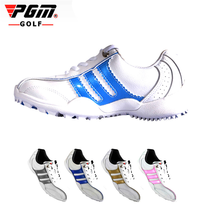 PGM Golf Shoes Outdoor Sport Sneakers Breathable Soft Golf Kids Shoes Outdoor Sports Antiskid Comfortable Sports Entertainment glowing sneakers usb charging shoes lights up colorful led kids luminous sneakers glowing sneakers black led shoes for boys