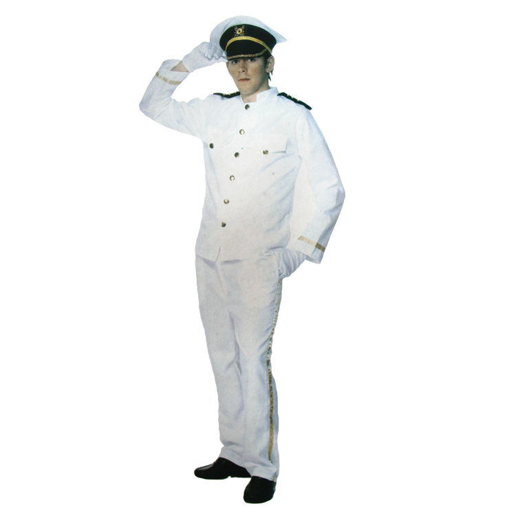 Hot cosplay Halloween adult costume flight attendants and pilots Captain white