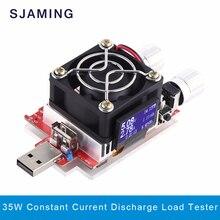 35 Вт usb электронные нагрузки регулируемая постоянный ток старения резистор напряжение батареи тестер емкость qualcomm qc2.0/3.0 вольтметр