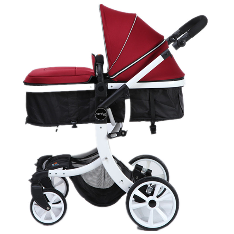 The baby stroller of the aimile, can sit on a bb cart in the four seasons of high landscape folding twin stroller high landscape can lay the portable folding baby cart