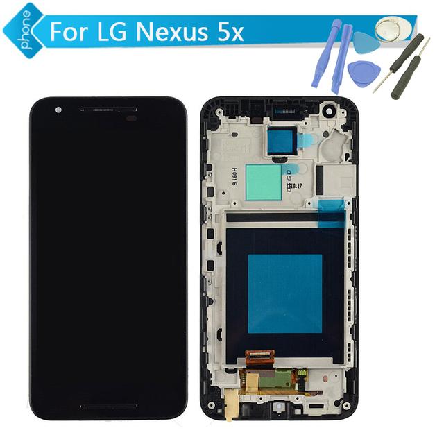 Para lg google nexus 5x h791 h790 pantalla lcd táctil digitalizador asamblea con marco + herramientas
