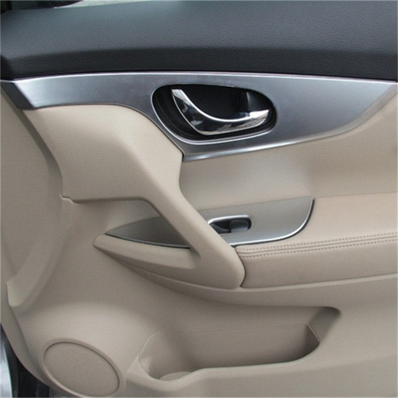 ABAIWAI Car Inner <font><b>Door</b></font> <font><b>Handle</b></font> Window handrail Stickers For <font><b>Nissan</b></font> <font><b>X</b></font>-<font><b>Trail</b></font> Auto Parts Protector abs Chrome XTrail 2014 2015 2016 image
