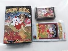 MD ゲーム: 雪 BROS. ニック & トム (日本版!! ボックス + マニュアル + カートリッジ!!)