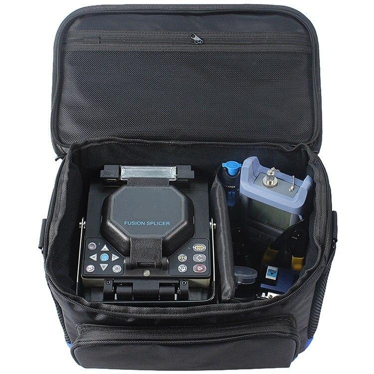 Top Qualité Fiber Optique Fusion Colleuse Pratique Sac de Transport FTTH Portable Outils Kit Plus Polyvalent Sac Étanche