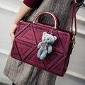 2016 Nueva Invierno Mujer Bolso de Alta Calidad Bolsos de Hombro de Señora Patchwork Bolsos de Compras de Moda Bolsa de Mensajero de Empalme