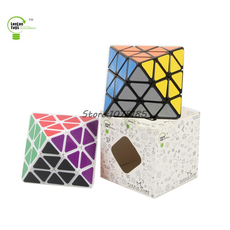 Magic Cubes Toys & Hobbies 8-axis Octahedron Magic Cube Black Puzzle Educational Toy Special Toys
