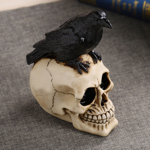 Image 4 - MRZOOT Resin Craft Statues For Decoration Skull Crow Skull Fashion Home Decor Creative Statue Personalized Ornaments