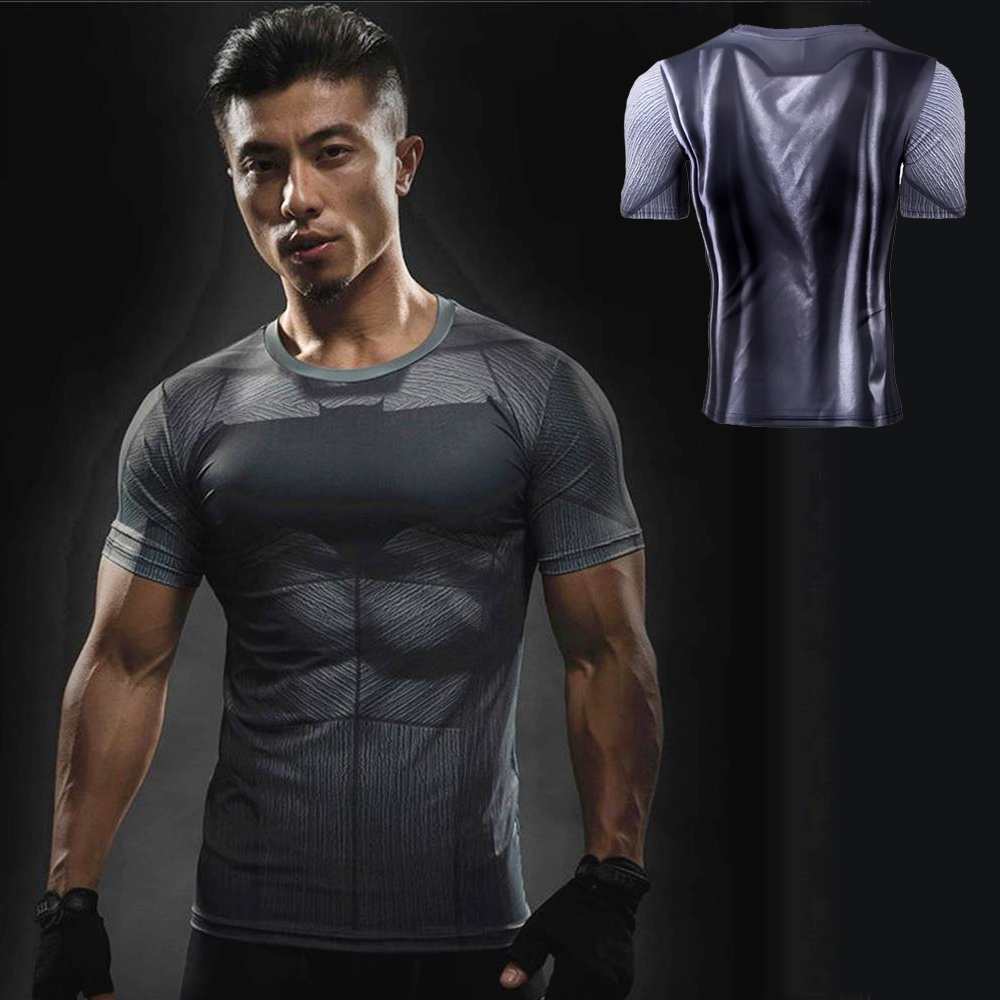 DC Comics Super Hero Batman VS Superman Cosplay T-Shirt Gym Bodybuilding Morn Run Jogging Tops 3D Print T-Shirt Men Sport tshirt женская футболка other 2015 3d loose batwing harajuku tshirt t a50