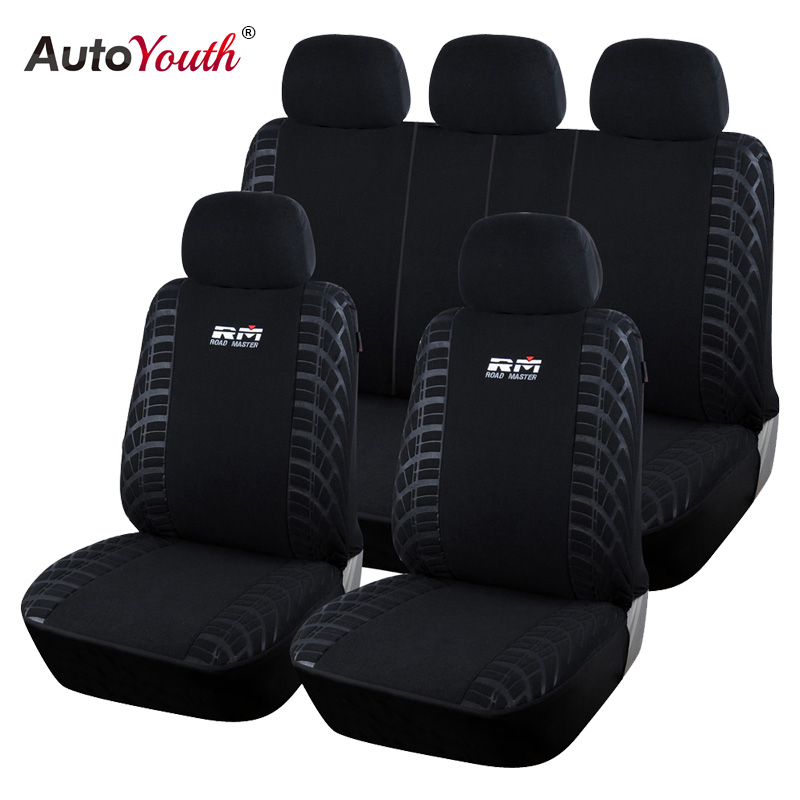 AUTOYOUTH Car <font><b>Seat</b></font> <font><b>Covers</b></font> Full Set Universal 100% Looped Fabric <font><b>Seat</b></font> Protector For <font><b>seat</b></font> ibiza <font><b>peugeot</b></font> <font><b>206</b></font> mazda cx3 suzuki swift image