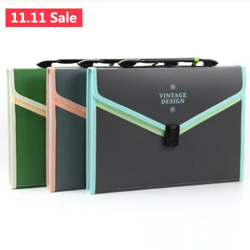 Document Bag File Folder Expanding Wallet 13 Layered Portable Organ Bag A4 Organizer Paper Holder Office School Supplies Gift deli mini expanding file high capacity a4 folder document office file folders portable paper bag organizer school office supply