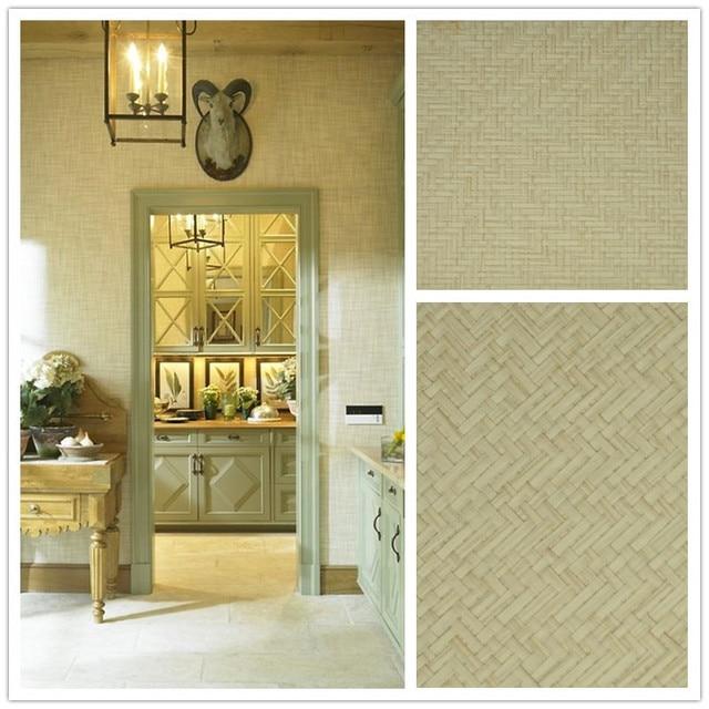 tela natural muebles de papel tapiz de color beige cubierta de lujo material de papel decorativo para el hogar sala de paredes