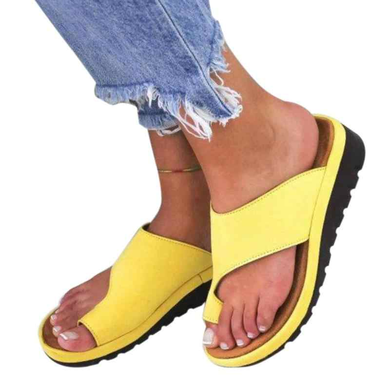 Hot New Summer Women Sandal slippers Daily Dating PU Leather Casual half-toe Flat Sole Soft Flat-bottomed Platform Sandal #20