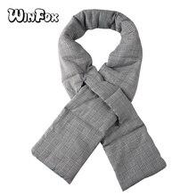 Winfox 2018 Fashion Black White Winter Plaid Houndstooth Scarf For Ladies Female Warm Scarves Foulard