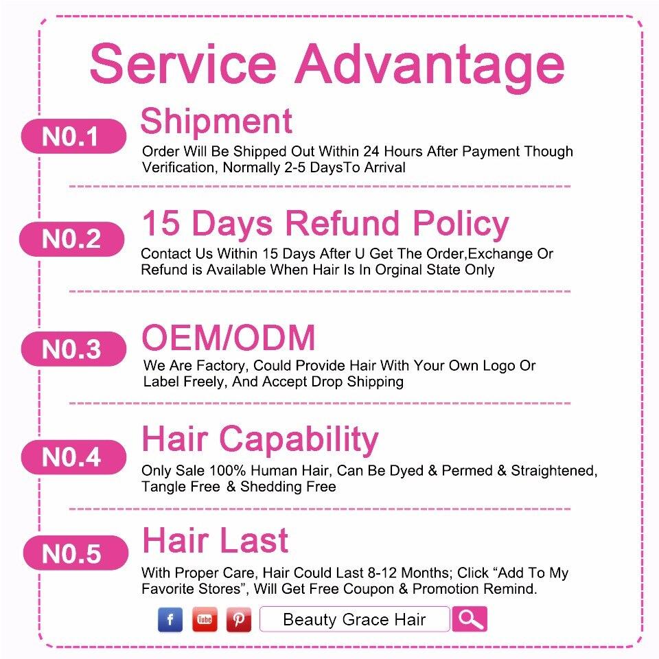 Skönhet Grace brasilianska Body Wave Hair Snörning Closure Remy - Mänskligt hår (svart) - Foto 5