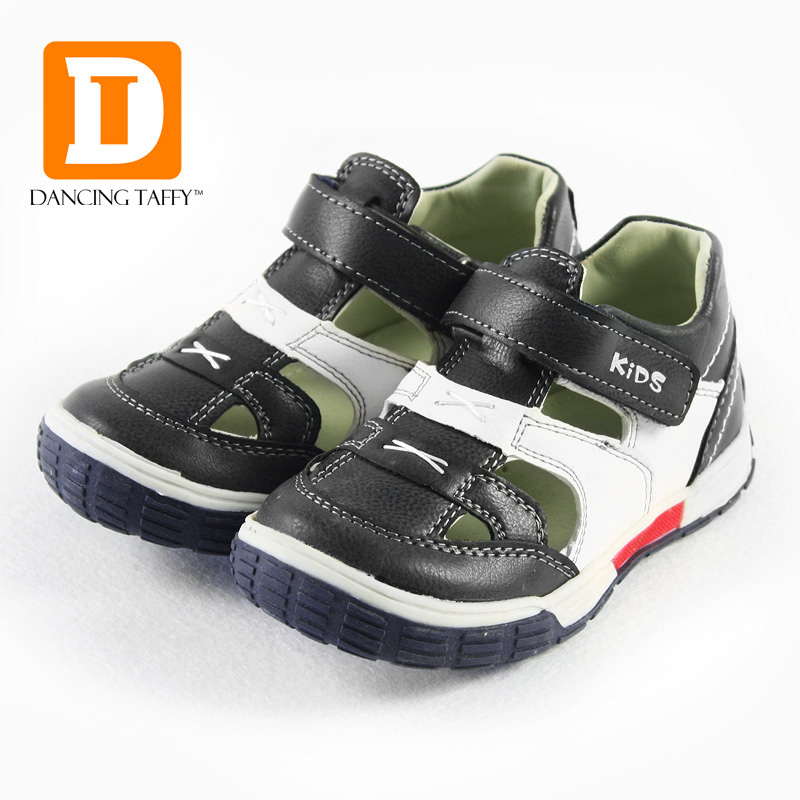 Kids Genuine Leather Sandals New 2019 Casual Summer Children Shoes  Boys Girls Ankle Wrap Flat Toddler Soft Leather Beach Sandal