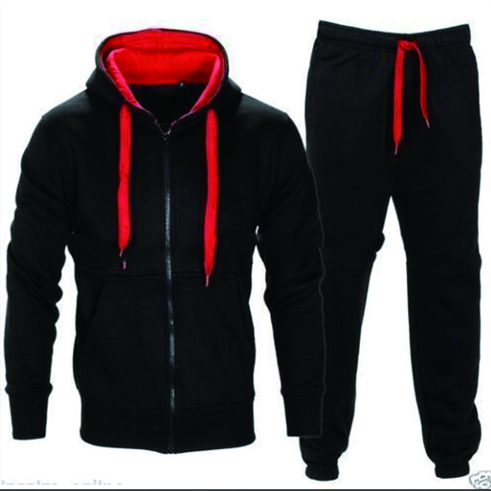 Winter Sportswear Sets Warm Men's Hooded Tracksuits Set Casual Brand Leisure Solid Suit 2018 Outwear 2 Pieces Sporting Sets 2XL
