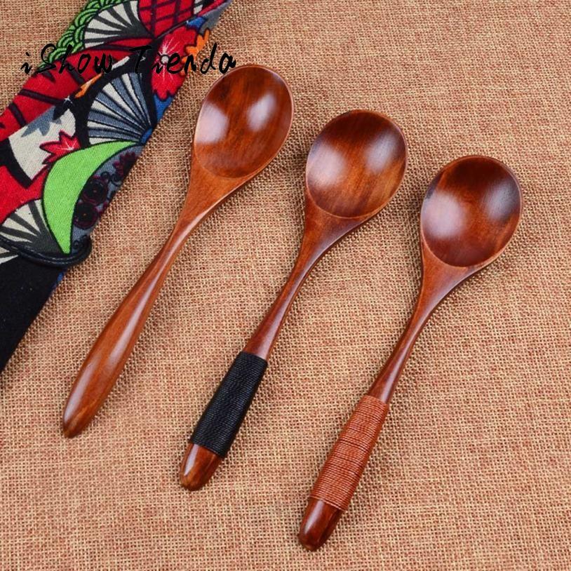 Holzlöffel Bambus Küche kochen Utensil Werkzeug Suppe Teelöffel Catering
