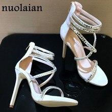 90046b1d9dc Marque Sexy cristal plate-forme chaussures femme sandales femmes pompes  talons hauts femmes de mariage