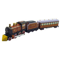 Tinplate Nostalgic Clockwork Chain Toy Photography Prop Train Wind Up Toys Toys for Children