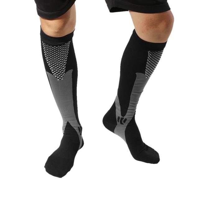653107524 Professional Men Women Leg Support Breathable Stretch Compression Socks  Below Knee Socks Fit Shin Splints Flight Travel Sport