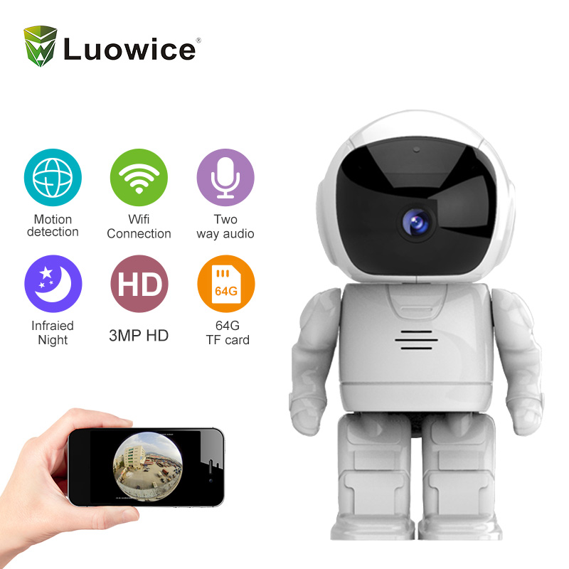Robot camera Wifi 2 MP HD Wireless IP Camera Wi-fi Night Vision Camera IP Network Camera ...