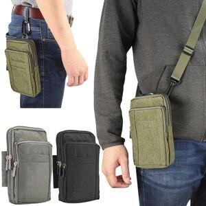 """Image 1 - Adam spor kemer klipsi bel paketi rahat eğimli omuz çantası telefon kapak cüzdan kılıf Iphone Samsung için Huawei için hepsi 7"""""""
