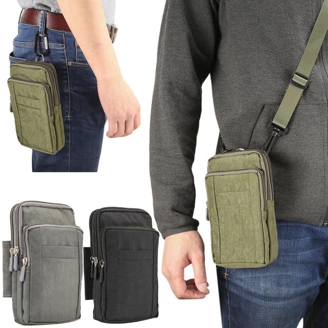 """Adam spor kemer klipsi bel paketi rahat eğimli omuz çantası telefon kapak cüzdan kılıf Iphone Samsung için Huawei için hepsi 7"""""""