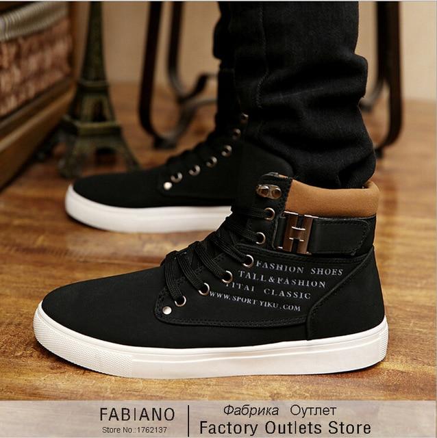 Men Fall black hightop canvas shoes men Korean tidal shoes student shoes breathable cloth